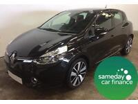 £154.14 PER MONTH BLACK 2013 RENAULT CLIO 1.5 DYNAMIQUE S 5 DOOR MANUAL DIESEL