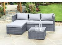 Rattan Garden Furniture - Rattan Corner sofa with coffee table BRAND NEW