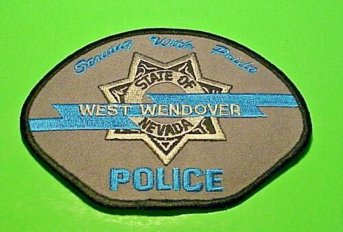 """WEST WENDOVER NEVADA   NV  3 1/2"""" x 4 3/4""""  POLICE PATCH  FREE SHIPPING!!!"""