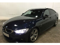 Black BMW 428i M Sport Coupe 4 door 245 BHP Auto FROM £114 PER WEEK!
