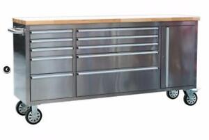 NEW 10 DRAWER STAINLESS STEEL WORK BENCH HTC7210W