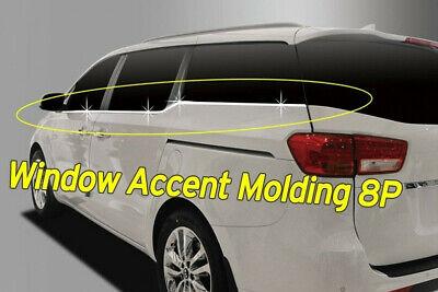 Window Accent Molding Chrome Garnish Trim B246 8Pcs AC for KIA Sedona 2015~2020