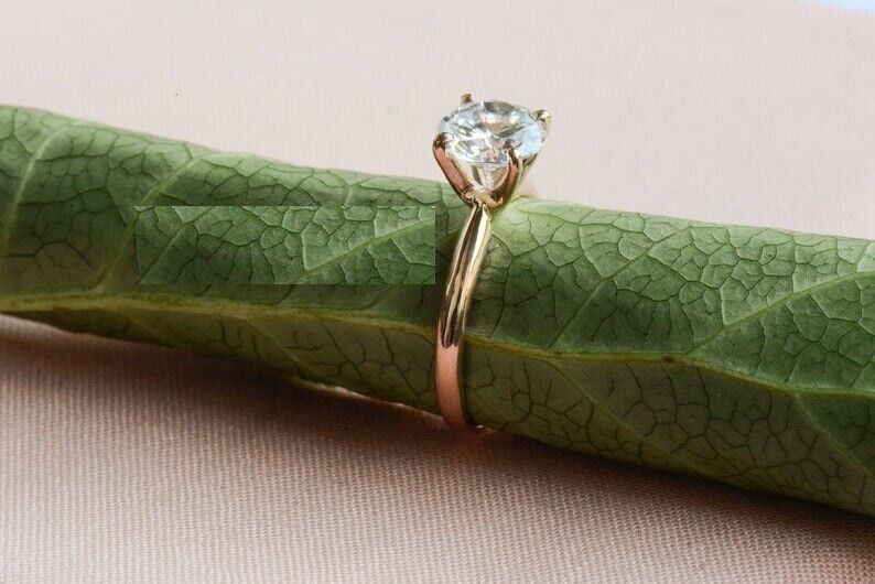 1.5Ct Round cut Diamond 14K Yellow Gold Over Engagement Vintage Women's Ring 3