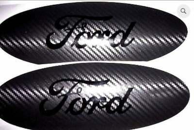 Ford F150 Oval Emblem CARBON FIBER Overlay Badge BLACKOUT Vinyl Decal Sticker