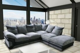 FAST DELIVERY - CHEAPEST PRICE BRAND NEW DINO JUMBO CORD CORNER OR 3 AND 2 SEATER SOFAS WITH