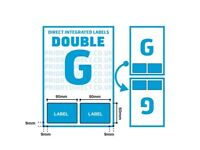 Integrated Labels A4 Size with 2 Labels
