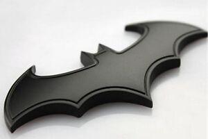 Batman 3D Metall Logo Aufkleber Auto Motorrad Emlem Badge Fledermaus Schwarz