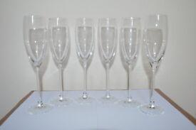 CHAMPAGNE GLASSES x 6