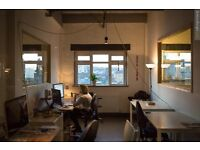 Co-working desk available NOW in the creative Hackney Wick by the canal!!