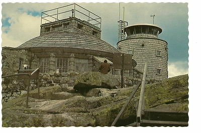 Whiteface Mountain Ny Weather Observatory Vtg Postcard