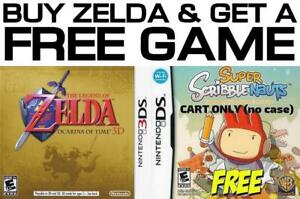 Selling/Trading 3DS/DS Legend Of Zelda, Scribblenauts +FREE GAME