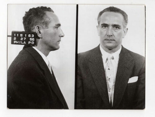 Michael Caserta - Notorious Racketeer & Crime Overlord - 1956 Philly PD Mugshot