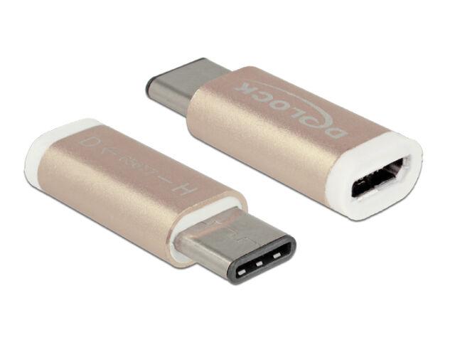 DeLock Adapter USB Type-C™ St (Host) > USB Micro B Buchse (Device) kupferfarben