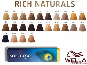 wella koleston perfect coloration cheveux rich naturals 100ml - Coloration Wella