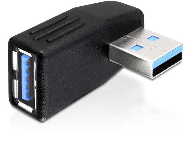 DeLock Adapter USB 3.0 A/A Stecker Buchse gewinkelt 270° horizontal