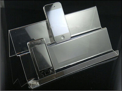 5PCS/item Clear Mobile cell phone display stand holder rack Universal General F5