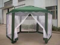 Green Hexagonal Gazebo