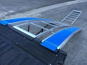 New Revarc Snowmobile Solid Glides Trifold Ramp & Ramp Riser