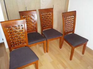 4 matching chairs