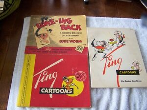 Politcal Cartoons by M.Tingley (Ting)/ 1 signed (with character)