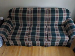 couch and chair reduced...will sell all pieces together $650