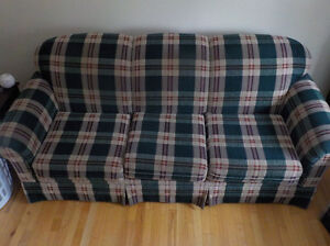 couch and chair reduced...will sell all pieces together $500