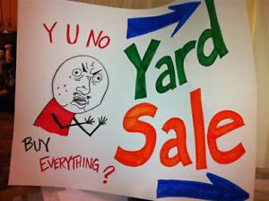 Yard sale @ 5 Auburn Court Today 7....11 am.