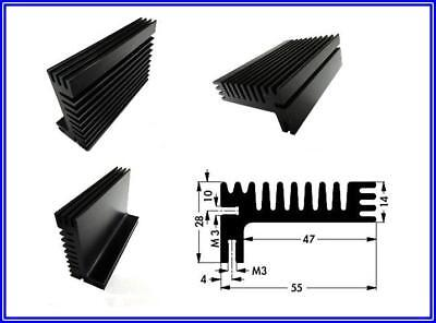 Khlkrper Aluminium Schwarz 85 X55 X 28 Mm 1 Stck