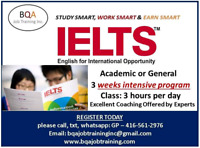 START IELTS GENERAL OR ACADEMIC ANY DAY IN BRAMPTON