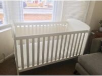 Cot bed / crib/ bed with mattress