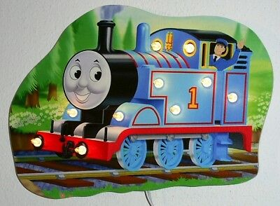 Thomas Beleuchtung Wand (Wandlampe Thomas die Lokomotive - Motiv2 - Kinderlampe aus Holz)