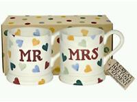 Emma Bridgewater Mr & Mrs mugs