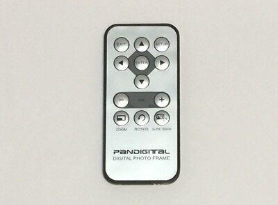 Pandigital Digital Photo Frame Silver and Black Remote Control Controller