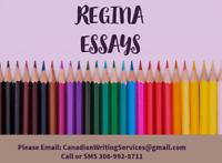 Regina's #1 Essay/Assignment Service - Ph  306-992-8711
