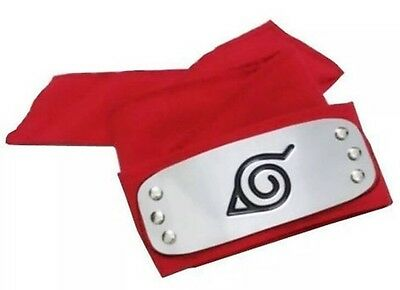 (Naruto Sakura Red Leaf Village Ninja Headband Cosplay Anime 37