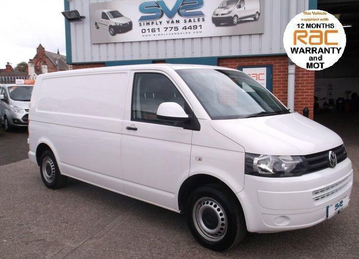 2012 VW TRANSPORTER T5 T30 TDI LWB 102BHP FULLY COLOUR CODED WITH ELECTRIC PACK