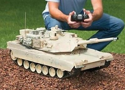 """RC Tank M1A2 Abrams USA Airsoft Tank Toy 16"""" Military Battle Vechile w Sound NEW"""