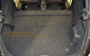 Fiat 500 Rear Seat Delete kit, Drops 47 lbs! 2012-2014
