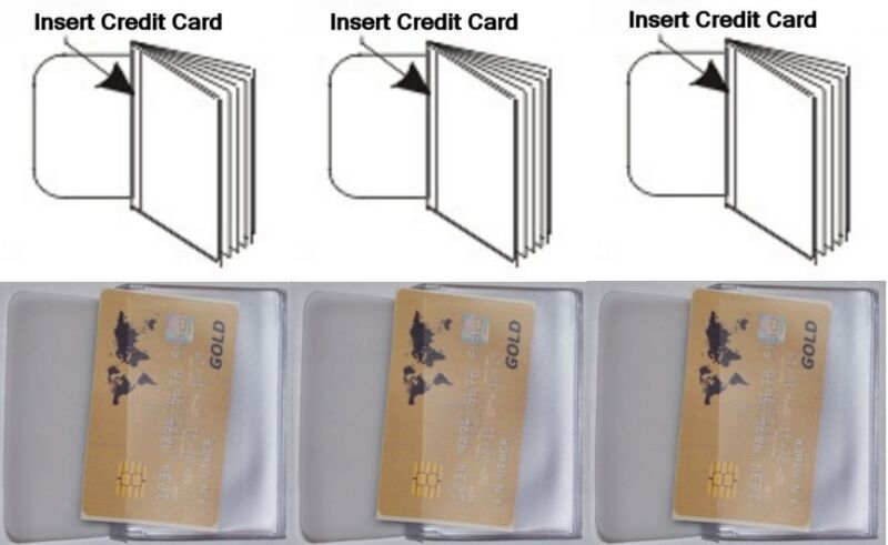USA Quality 3x Vinyl 10 Page Credit Card Wallet Trifold Insert FAST SHIP