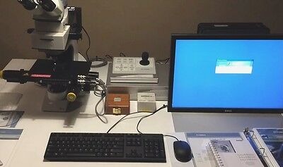 Leica Microscope Dm 2500 Clemex 100x100mm Stage Hd Camera With Pc