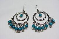 Fancy Jewellery Tibet Silver Turquoise Bead Earring--NEW!