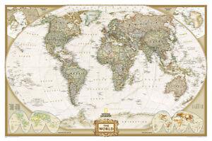 National geographic world map ebay national geographic world executive map laminated poster 46x30 gumiabroncs Choice Image