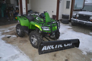 2010 Arctic Cat Mud Pro 700 with AC Angle Snow Plow