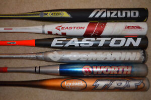 Softball Bats and Gloves