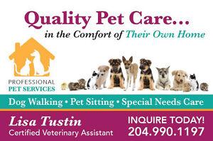 Professional Pet Sitting/Dog Walking & MORE!