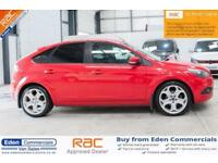 2008 08 FORD FOCUS 1.8 TITANIUM 5D 125 BHP, AIR CON, RED, HATCHBACK