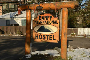 $185 weekly rate available at the Banff International Hostel!