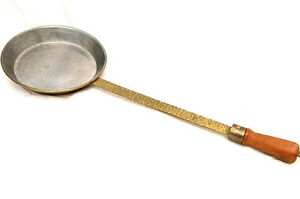 Copper long handled skillet