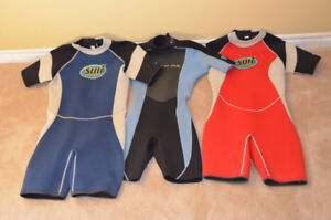 Multi sport, high quality short wetsuits