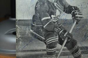 Toronto Maple Leaf Program 1963 AUTOGRAPHED